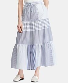 Lauren Ralph Lauren Petite Tiered Peasant Skirt