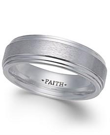 Men's Faith Bright-Edge Cobalt Ring