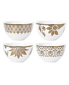 Global Tapestry Gold Set/4 Dessert Bowls