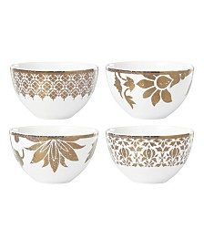 Lenox Global Tapestry Gold Set/4 Dessert Bowls