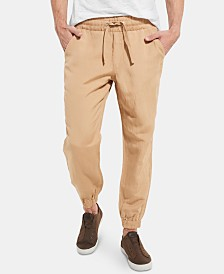 GUESS Men's Desert Linen Jogger Pants