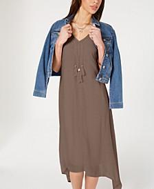 Asymmetrical-Hem Tassel Dress, Created for Macy's