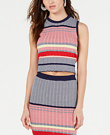 Lucy Paris Kylie Sleeveless Cropped Sweater