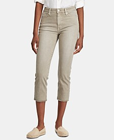 Petite Regal Straight Crop High-Rise Jeans