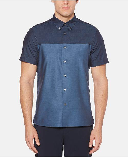 Perry Ellis Men's Colorblocked Shirt