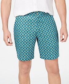 Men's Flat-Front Linen Printed Shorts, Created for Macy's