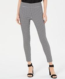 Bar III Printed Pull-On Skinny Pants, Created for Macy's