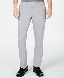 INC Men's Slim-Fit Stretch Linen Pants, Created for Macy's