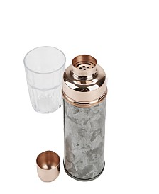 Mind Reader Stylish Cocktail Shaker for Home Bar 18 Oz. Metal