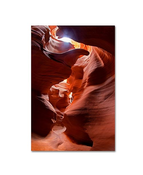 "Trademark Global Mike Jones Photo 'Secret Canyon Fisheye' Canvas Art - 19"" x 12"" x 2"""