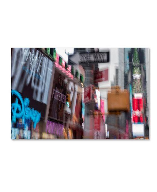 """Trademark Global Moises Levy '42st' Canvas Art - 32"""" x 22"""" x 2"""""""