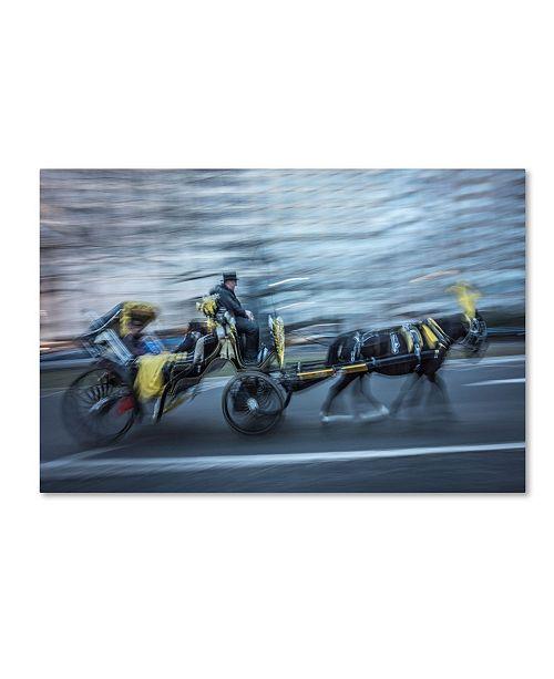 "Trademark Global Moises Levy 'Motion Horse 1' Canvas Art - 24"" x 16"" x 2"""