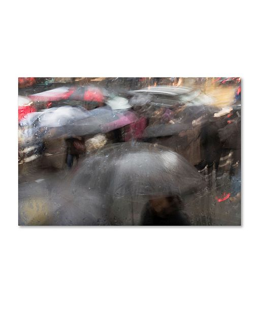 "Trademark Global Moises Levy 'Umbrellas 6' Canvas Art - 19"" x 12"" x 2"""