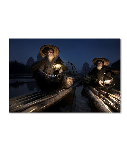 "Trademark Global Moises Levy 'Fishermen Brothers 2' Canvas Art - 32"" x 22"" x 2"""