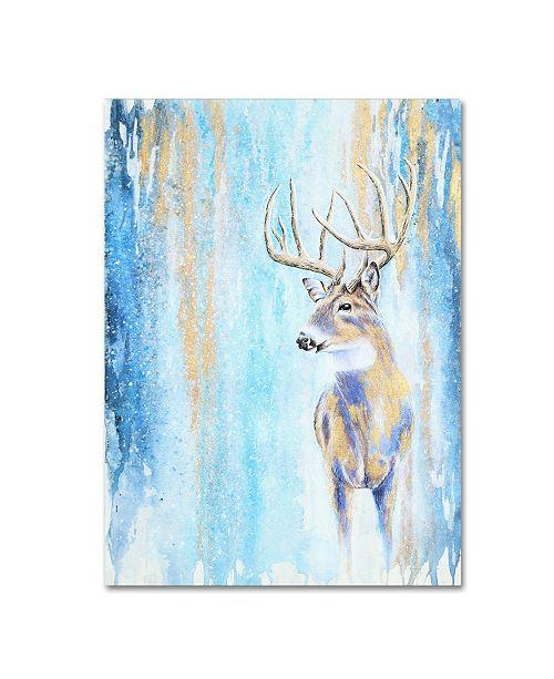 """Trademark Global Michelle Faber 'Winter Buck' Canvas Art - 47"""" x 35"""" x 2"""""""