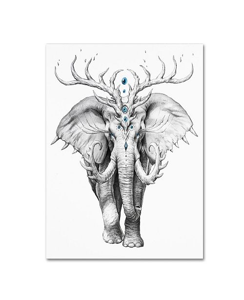 "Trademark Global JoJoesArt 'Elephant Soul' Canvas Art - 47"" x 35"" x 2"""