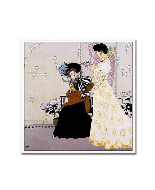 "Trademark Global Vintage Lavoie 'Fashion 27' Canvas Art - 24"" x 24"" x 2"""