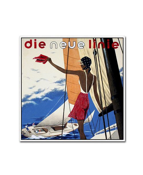 "Trademark Global Vintage Lavoie 'Fashion 41' Canvas Art - 24"" x 24"" x 2"""
