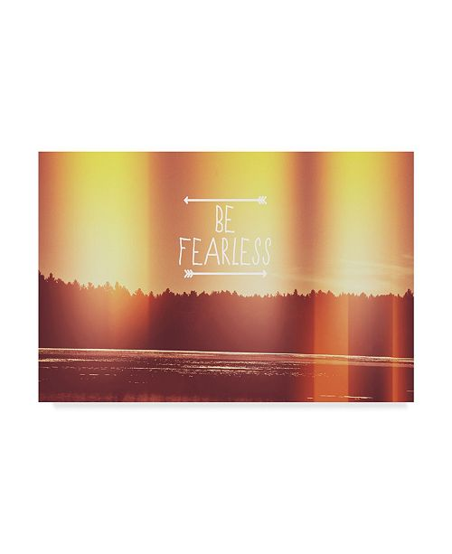 "Trademark Global Vintage Skies 'Be Fearless' Canvas Art - 19"" x 12"" x 2"""