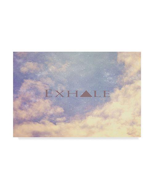 "Trademark Global Vintage Skies 'Exhale' Canvas Art - 19"" x 12"" x 2"""