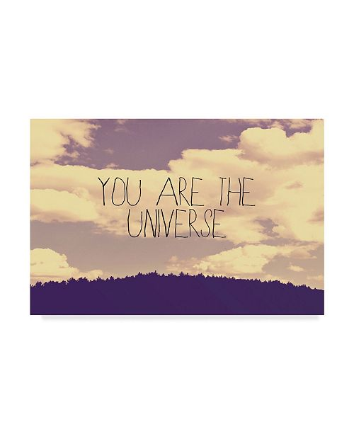 """Trademark Global Vintage Skies 'You Are The Universe' Canvas Art - 47"""" x 30"""" x 2"""""""