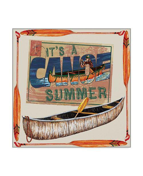 "Trademark Global Sher Sester 'Canoe Summer' Canvas Art - 35"" x 35"" x 2"""