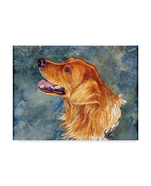 """Trademark Global Sher Sester 'Golden Smile' Canvas Art - 19"""" x 14"""" x 2"""""""