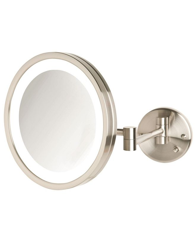 """Jerdon The HL1016NL 9.5"""" 5X Magnified LED Wall Mount Mirror"""