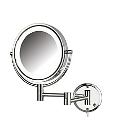 "The HL88CL 8.5"" LED Lighted Wall Mount Makeup Mirror"