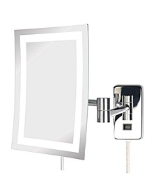 "The JRT710CL 6.5"" x 9"" LED Lighted Wall Mount Rectangular Makeup Mirror"