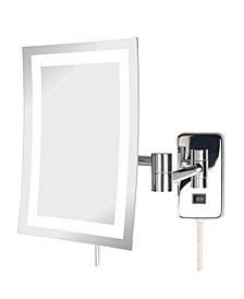 "The Jerdon JRT710CL 6.5"" x 9"" LED Lighted Wall Mount Rectangular Makeup Mirror"