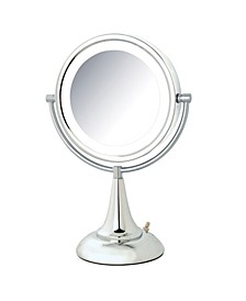 "The HL8510CL 8.5"" LED Lighted Table Top Mirror"