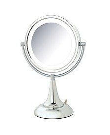 "The Jerdon HL8510CL 8.5"" LED Lighted Table Top Mirror"