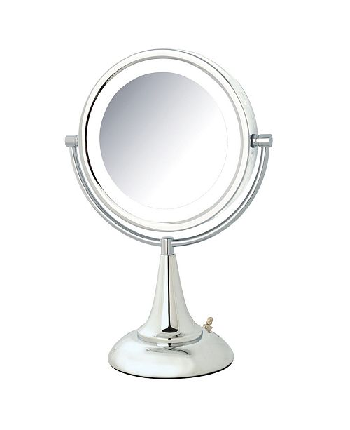 """Jerdon The HL8510CL 8.5"""" LED Lighted Table Top Mirror"""