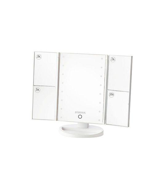 Jerdon The JS35710W Multi Magnification LED Lighted Makeup Mirror
