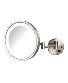 "The HL1016NLD 9.5"" 5X Magnified LED Wall Mount Direct Wire Mirror"
