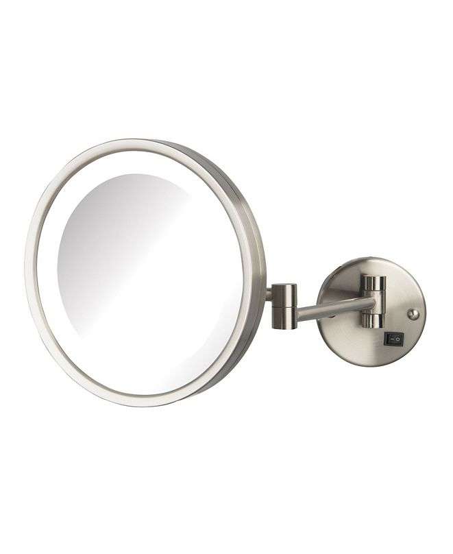 """Jerdon The HL1016NLD 9.5"""" 5X Magnified LED Wall Mount Direct Wire Mirror"""