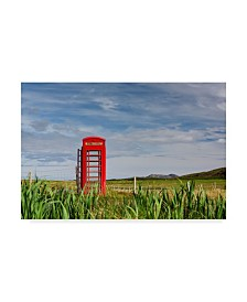 "Michael Blanchette Photography 'Pastoral Phone Box' Canvas Art - 32"" x 22"" x 2"""