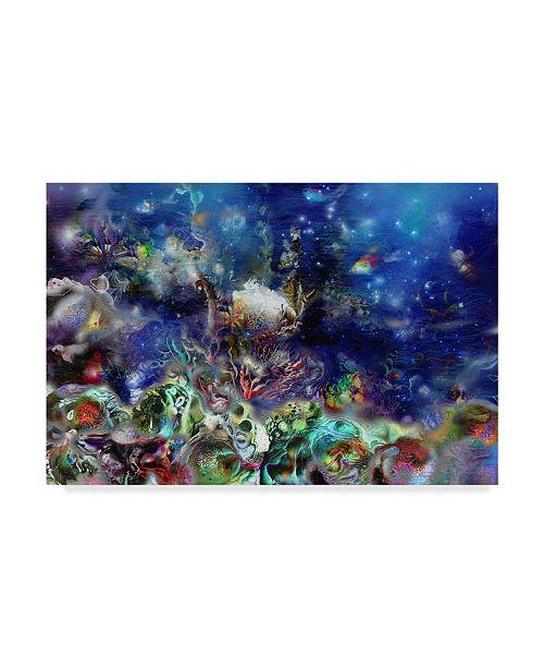 "Trademark Global RUNA 'Coral Reef Lilac' Canvas Art - 47"" x 30"" x 2"""