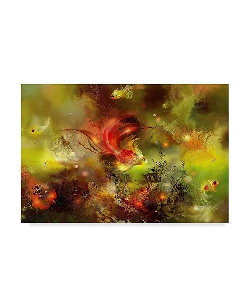 "Trademark Global RUNA 'Fish 8' Canvas Art - 47"" x 30"" x 2"""