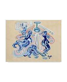 "Josh Byer 'Shoe on the Dance Floor' Canvas Art - 47"" x 35"" x 2"""