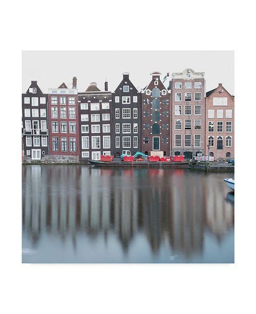 "Trademark Global Moises Levy 'Amsterdam Canal Cityscape' Canvas Art - 35"" x 35"" x 2"""