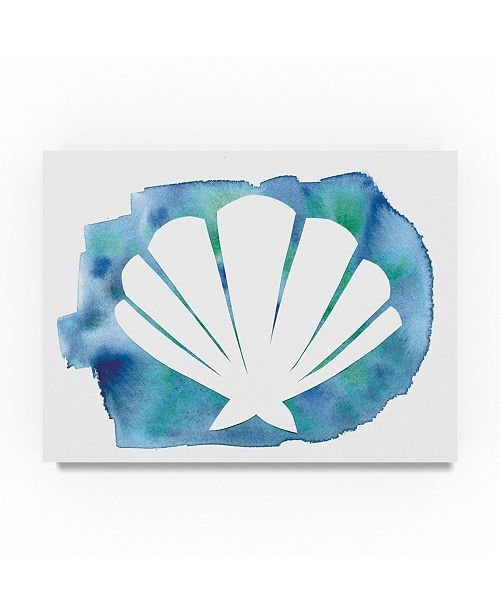 "Trademark Global Summer Tali Hilty 'Watercolor Sea Shell' Canvas Art - 24"" x 18"" x 2"""