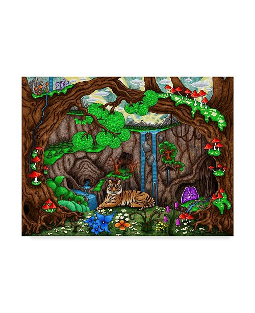 "Trademark Global Jake Hose 'While The Forest Sleeps' Canvas Art - 24"" x 18"" x 2"""