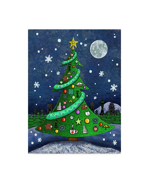 "Trademark Global Jake Hose 'Seattle Christmas Tree' Canvas Art - 24"" x 18"" x 2"""