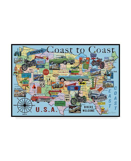 "Trademark Global Jean Plout 'Classic America' Canvas Art - 24"" x 16"" x 2"""