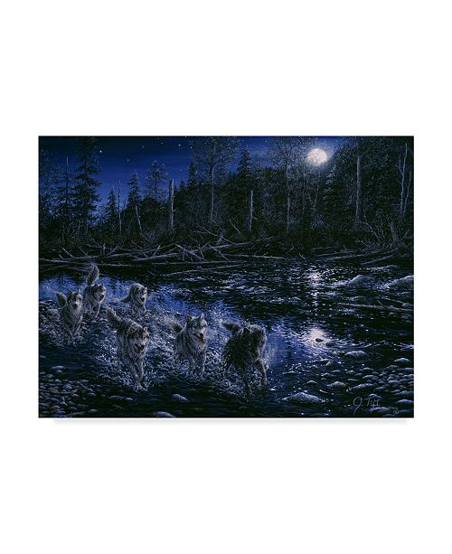 "Trademark Global Jeff Tift 'Midnight Pursuit' Canvas Art - 24"" x 18"" x 2"""