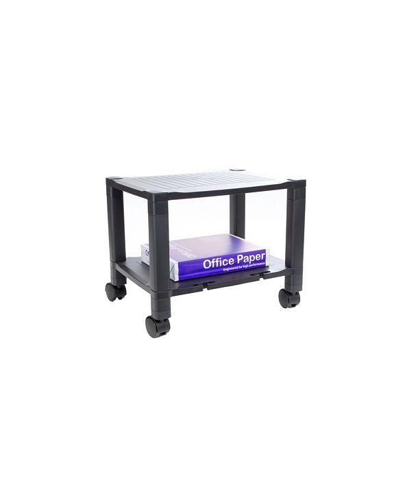 Mind Reader 2 Shelf Mobile Printer Cart with Cord Management