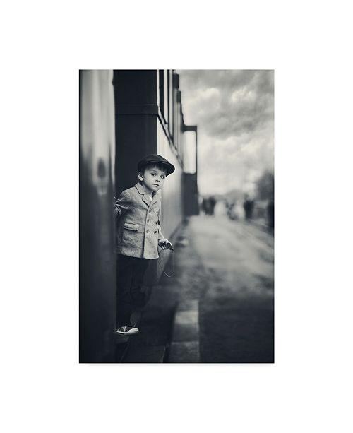 "Trademark Global Tatyana Tomsickova 'Child On A Train' Canvas Art - 16"" x 2"" x 24"""
