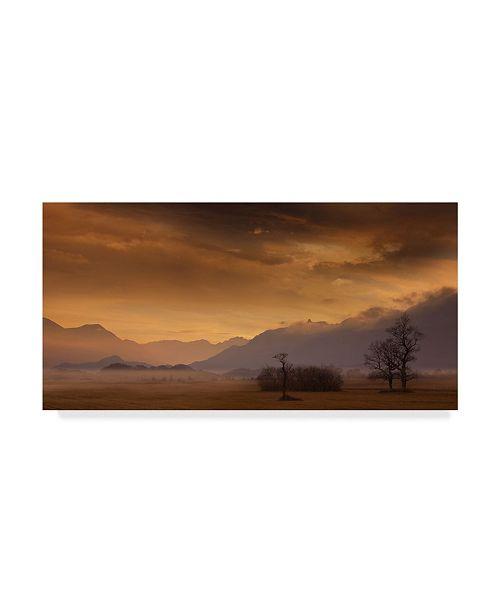 """Trademark Innovations Norbert Maier 'Late October' Canvas Art - 24"""" x 2"""" x 12"""""""